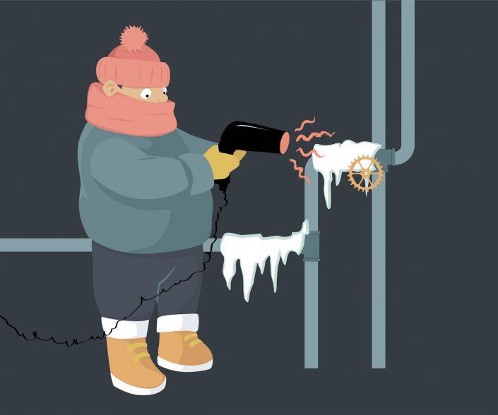 emergency frozen pipes