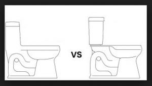 one vs two piece new toilet